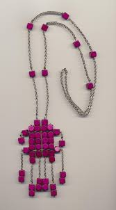 beads necklace handmade images Handmade necklace with big pendant made of german wooden beads jpg