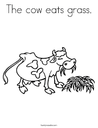 cows give us milk coloring page twisty noodle
