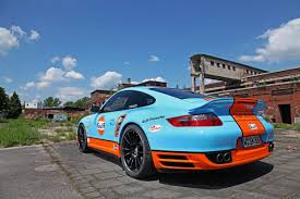 orange porsche 911 turbo porsche 911 turbo with gulf oil wrap looks neat and with 650hp is