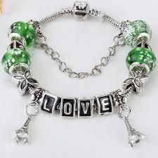 simple beaded bracelet images China fashion crystal diy glass beaded bracelet simple eiffel jpg