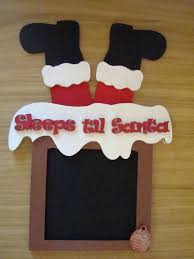 santa stuck in chimney chalkboard countdown plaque the supermums