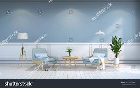 Pics Photos Light Blue Bedroom Interior Design 3d 3d by Minimalist Interior Room Contemporary Furniture Light Stock
