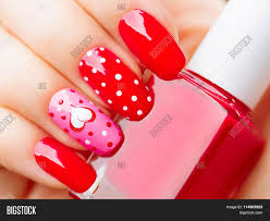 valentine nail art manicure valentines day holiday style bright