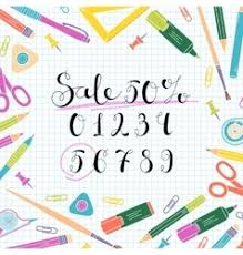stationery sketch images royalty free vector image