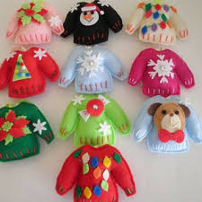 cutest handmade felt sweater ornaments choose