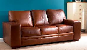 Chelsea Aniline Leather  Seater Sofa Oak Furniture Solutions - Leather 3 seat sofa
