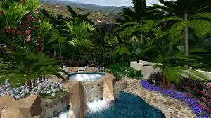 Tropical Landscape Ideas by Backyard Pool Backyards Pool Tropical Landscaping Ideas Cozy