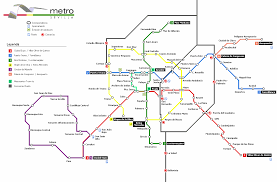 Madrid Subway Map by Seville Future Metro Map