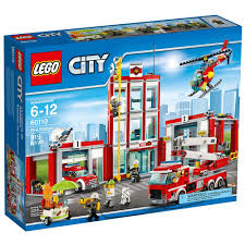 Small Fire Station Floor Plans Amazon Com Lego City Fire Station 60110 Toys U0026 Games