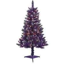 holiday time 4ft pre lit 150 clear light artificial purple