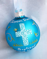 personalized baptism ornament baptism ornament boy painted and personalized
