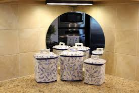 blue ceramic kitchen canisters u2014 flapjack design best white