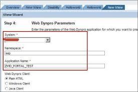 tutorial java web dynpro sap web dynpro integrate wda in portal