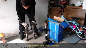 replacing the front shock absorber sachs opel astra pl voice