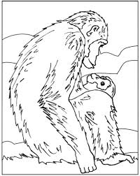 chimpanzee coloring pages to print for kids gilboardss com