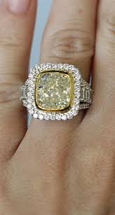 fancy yellow diamond engagement rings fancy yellow cushion cut engagement ring eye candy