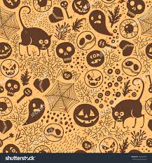 halloween seamless backgrounds happy halloween seamless pattern pumpkins skulls stock vector