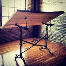 Drafting Table Blueprints 1910 American Trestle Drafting Table From Restoration Hardware