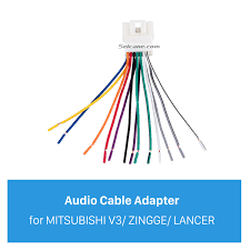 audio sound cable wiring harness adapter for mitsubishi v3 zingge