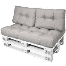 coussin pour canapé palette lot de 2 dossiers de 60x40x10 20cm gris clair coussin pour mobilier