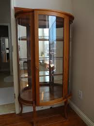 Antique Curio Cabinet With Desk Curved Glass Curio Cabinet Value My Antique Furniture Collection