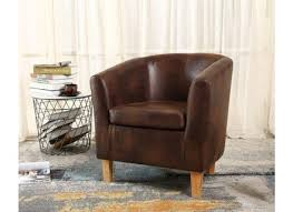 Vintage Brown Leather Armchair Faux Leather Armchair Alleycatthemes Com
