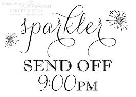 wedding signs template sparkler send wedding reception sign