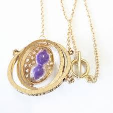 purple necklace pendant images Time turner rotating hourglass pendant necklace golden edge jpeg
