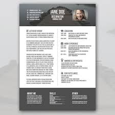 Photo Resume Template Free Creative Resume Template U2013 81 Free Samples Examples Format