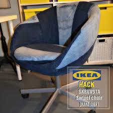 Swivel Chair Wheels by Diy Ikea Hack On The Skruvsta Swivel Chair Done Denim Style