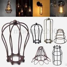 Wire Cage Light Vintage Pendant Trouble Light Bulb Guard Wire Cage Ceiling Hanging