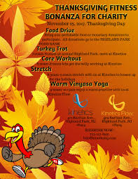 thanksgiving fitness bonanza for charity kinetics