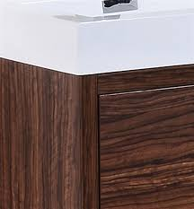 Modern Walnut Bathroom Vanity by Bliss 60 U2033 Walnut Double Sink Floor Mount Modern Bathroom Vanity