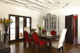china cabinet staging dining room traditional with black side