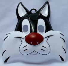 warner bros sylvester cat halloween mask loony toons cartoon y119