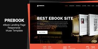 free muse template prebook ebook landing page responsive adobe muse template