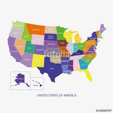 vector usa map usa map united states of america map illustration vector stock