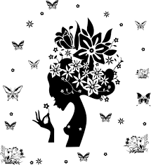 ay7184 hot sale wall stickers sexy woman head and butterfly wall ay7184 hot sale wall stickers sexy woman head and butterfly wall art sticker removable dm57 0018 cheap wall decals for kids cheap wall decor stickers from