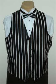 s black white striped pattern vest