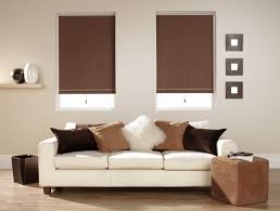 home decor bay window shades cool brown roller hunter douglas