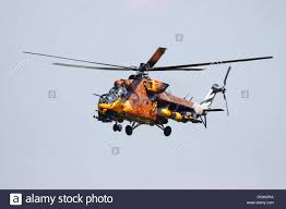 hungarian mil mi 24 hind helicopter with a striking painting the