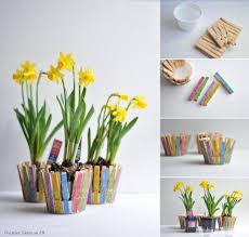 clothespin flower pot diy u0026 craft pinterest flower craft