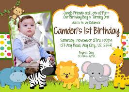 Birthday Invitation Cards For Friends Jungle Birthday Invitations Kawaiitheo Com