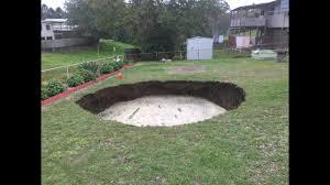 Sinkhole In Backyard Abandoned Mine Shaft Creates 300 Foot Deep Sinkhole In Australian