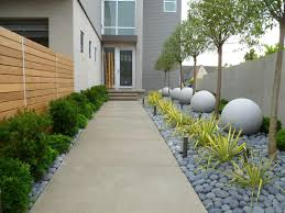 Backyard Landscaping Ideas For Dogs by Walkway To Contemporary Home Lined With Neat Landscaping Dog