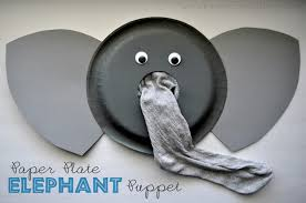 paper plate elephant puppet tutorial i heart crafty things