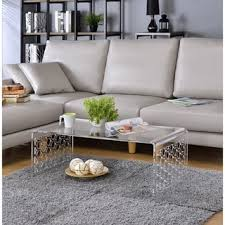 clear acrylic coffee table free shipping today overstock com