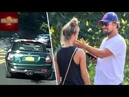 leonardo dicaprio girlfriend nina agdal involved in car accident