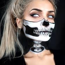 1 2 skull w exposed neck makeup tutorial