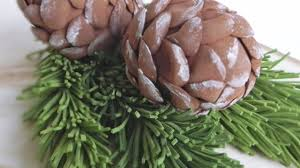 make foam paper pinecone decorations diy home guidecentral